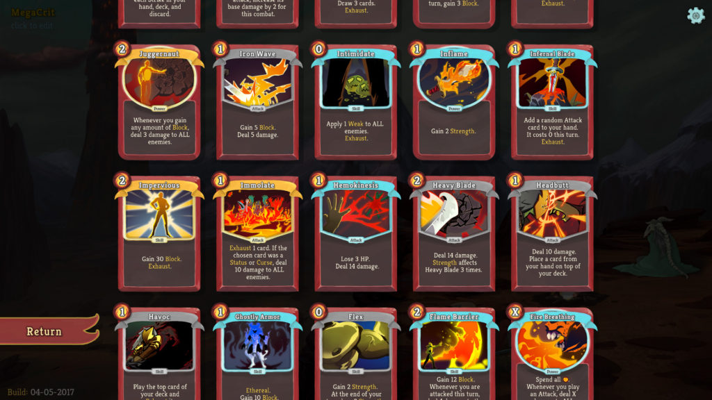 Battle deck for Slay the Spire