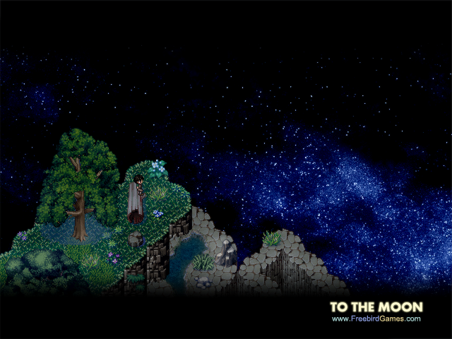 To the Moon video game promotional image