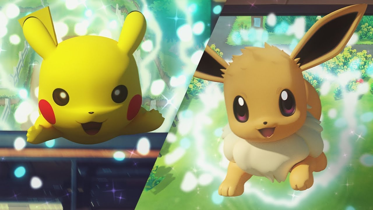 Pikachu and Eevee from Pokemon Let's Go