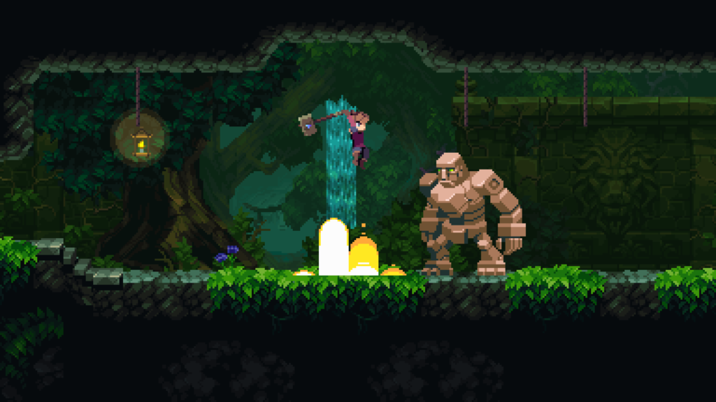 Fighting in Chasm the video game