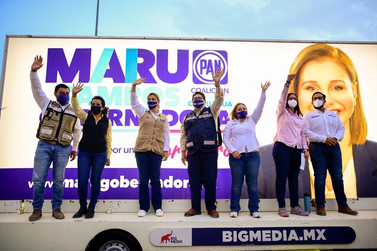 Juárez requiere un gobierno humanista, necesita a Maru y a Mocken, Juárez nos necesita a todos: Marisela Terrazas