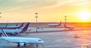 Planes on Runway at Ontario Airport
