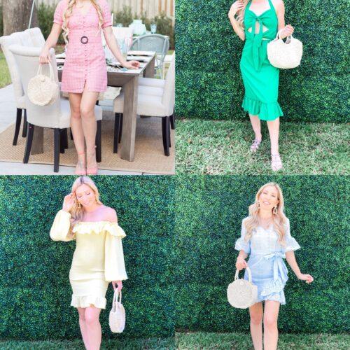 4 SHEIN SPRING DRESSES