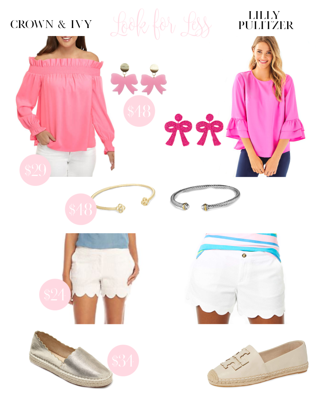 LOOK FOR LESS CROWN AND IVY LILLY PULITZER
