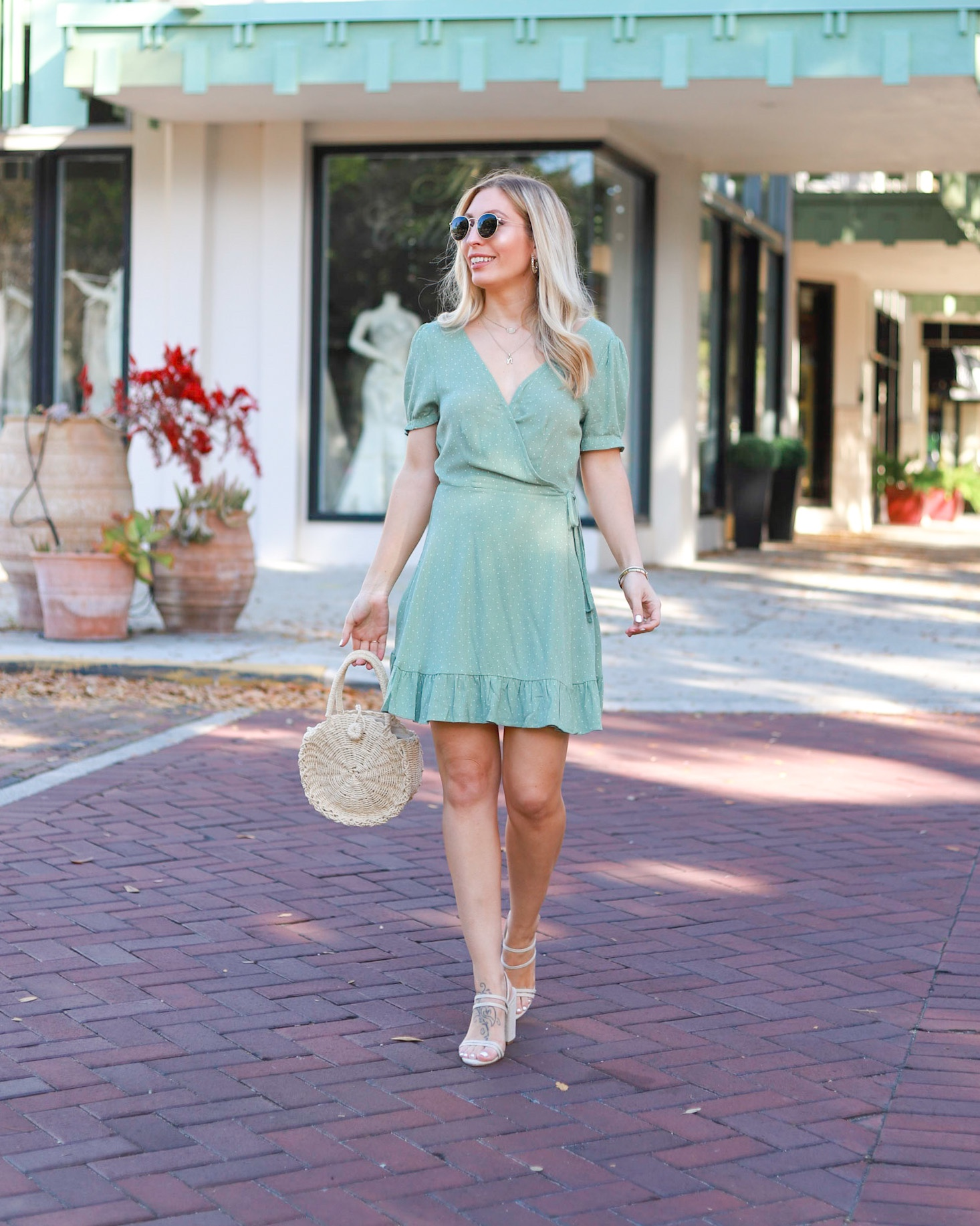 MINT WRAP DRESS MINT OUTFITS FOR SPRING
