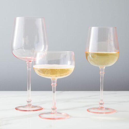 PINK ACRYLIC GLASSES