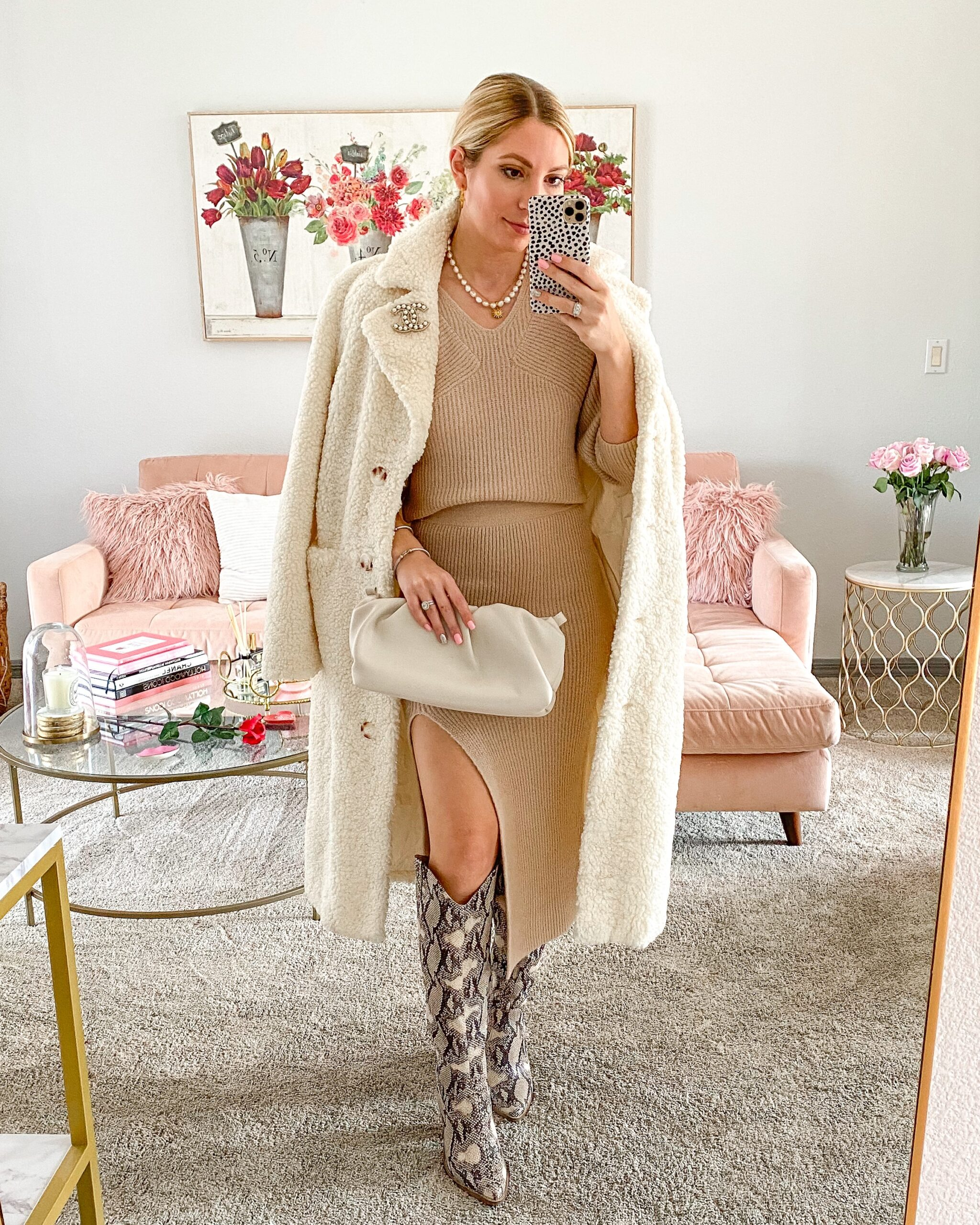 SWEATER SET AND TEDDY COAT