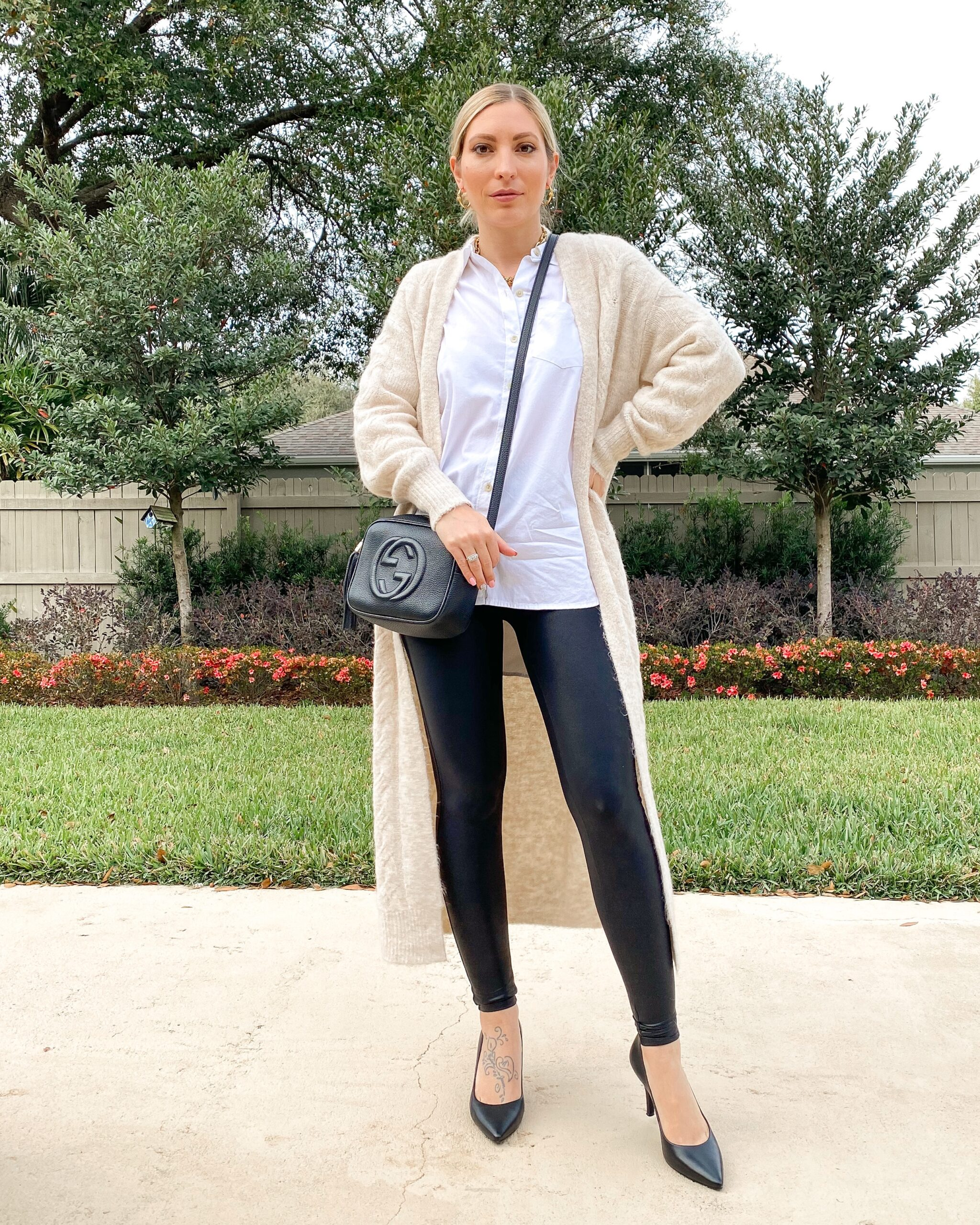 BUSINESS CASUAL LEATHER LEGGINGS