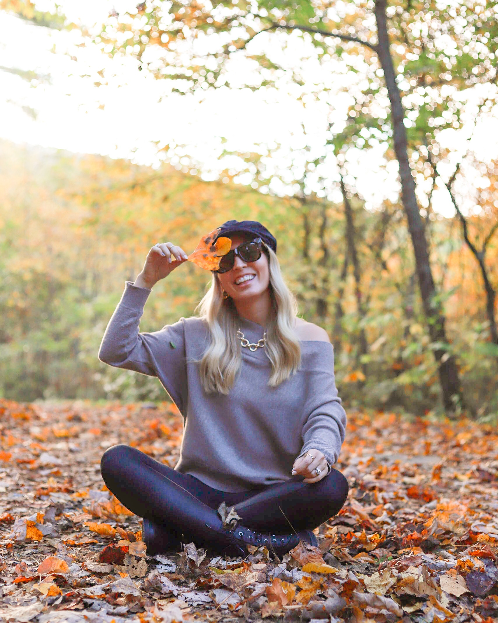 SWEATER FALL LEAVES NORDSTROM SALE