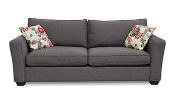 Gray Couch with Two Pillows