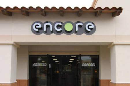 Storefront of Encore Consign + Design in La Quinta
