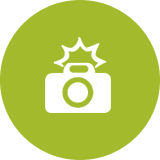 Lime Green Camera Icon
