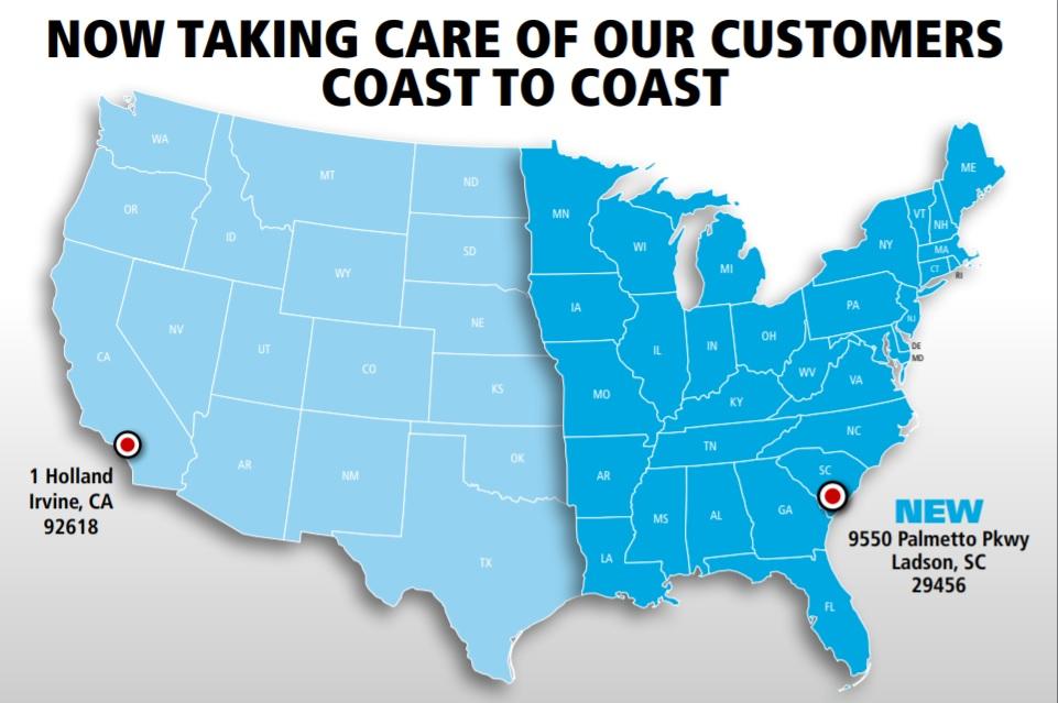 Shimano New Service Location South Carolina