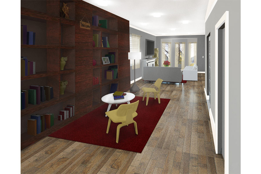Chicago Remodel Living Room Reading Area