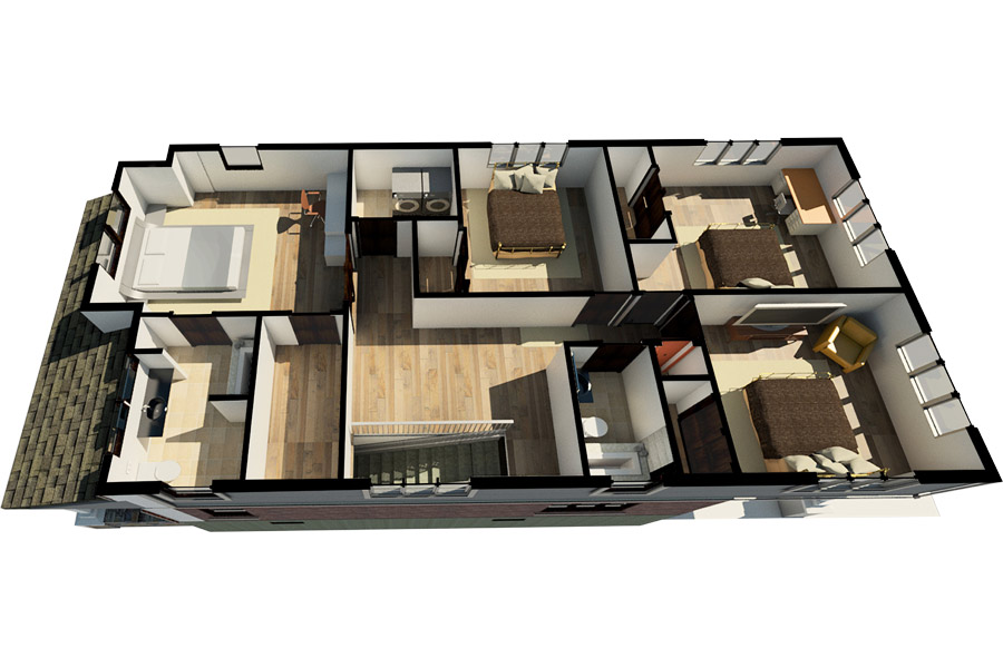 Evergreen Park Remodel Second Floor Layout