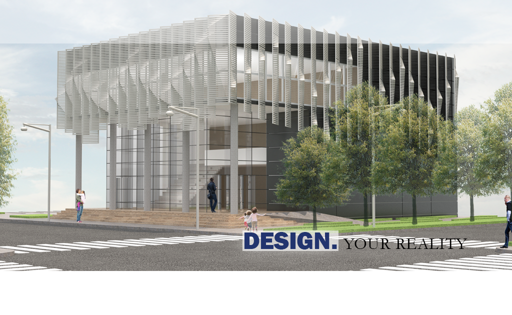 This is a rendering of a Community Arts Center for a client