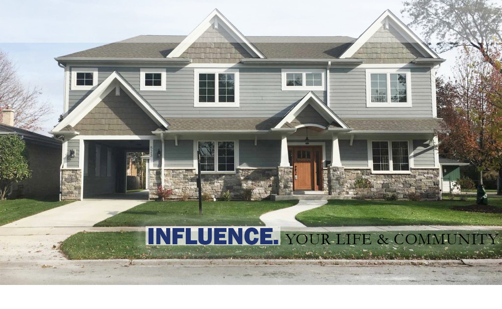 This is an image of a completed home we designed for a client in Chicago's Northern Suburbs