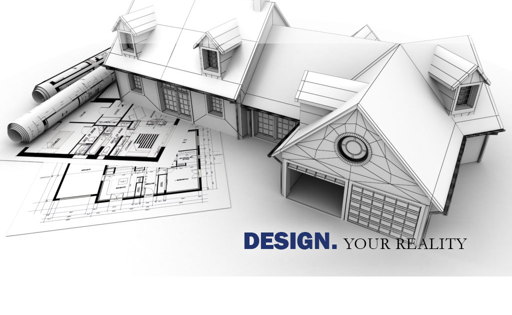 This is an image of a home in the early design stages with documents