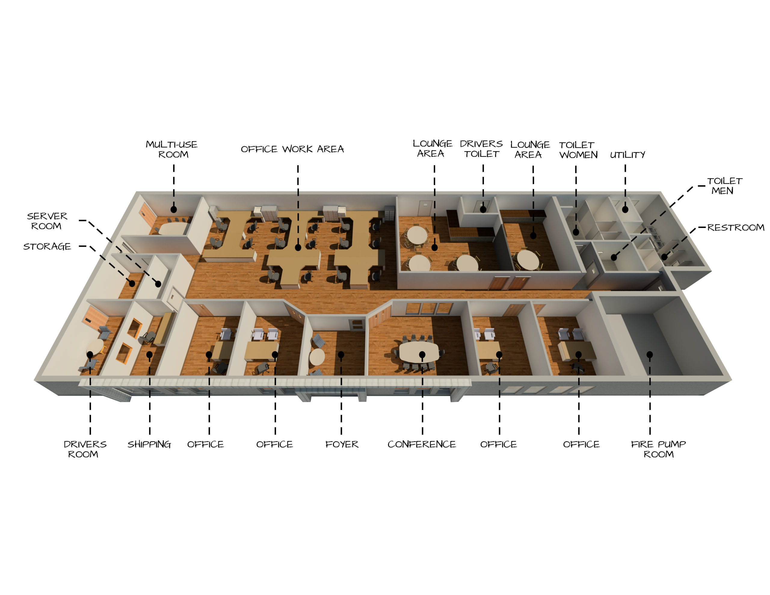 3D Rendering for Second Building at North American Warehousing Company