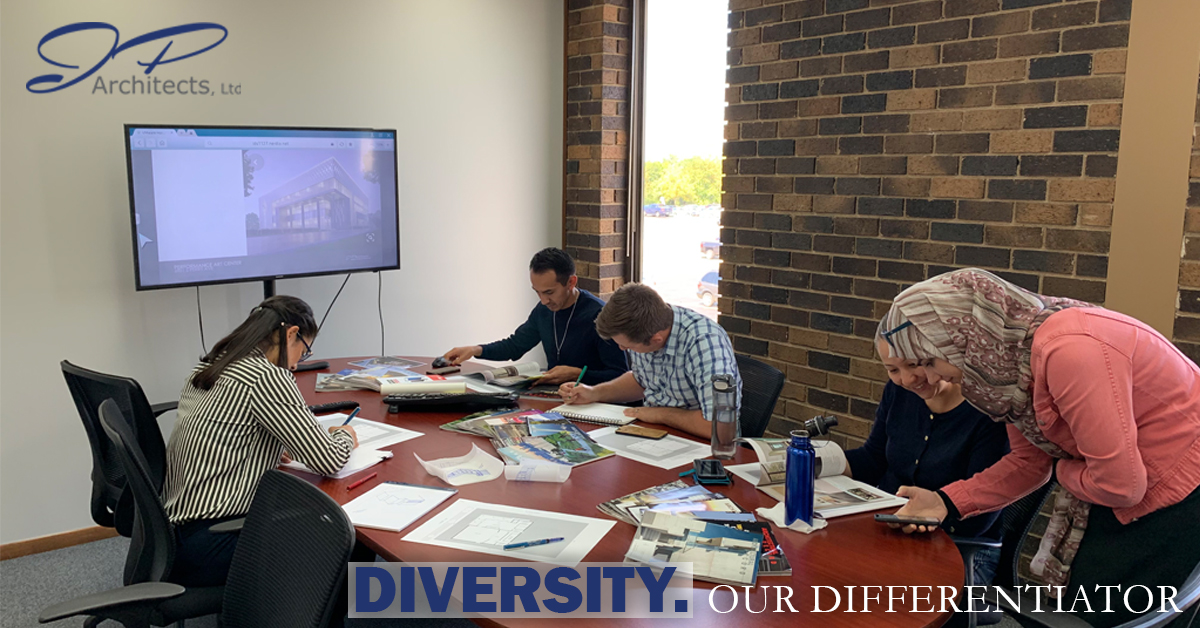 This is a photo for our blog about Diversity. It shows our diverse team.