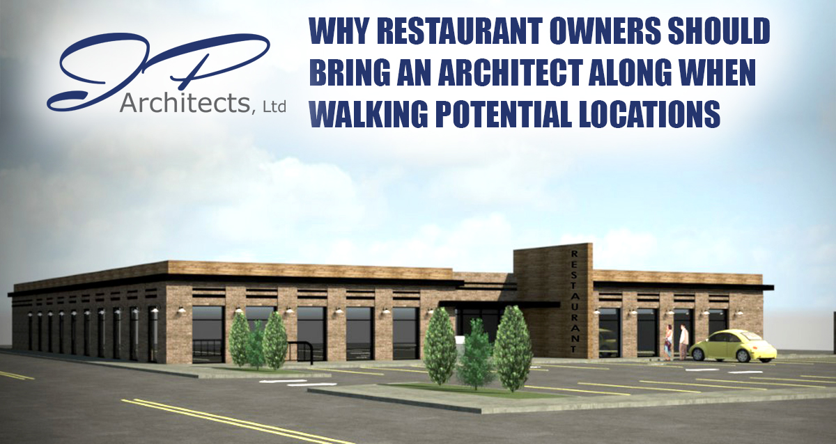 This is the cover photo for our blog about restaurant owners and why they should bring an architect to early stage walk-throughs of potential properties