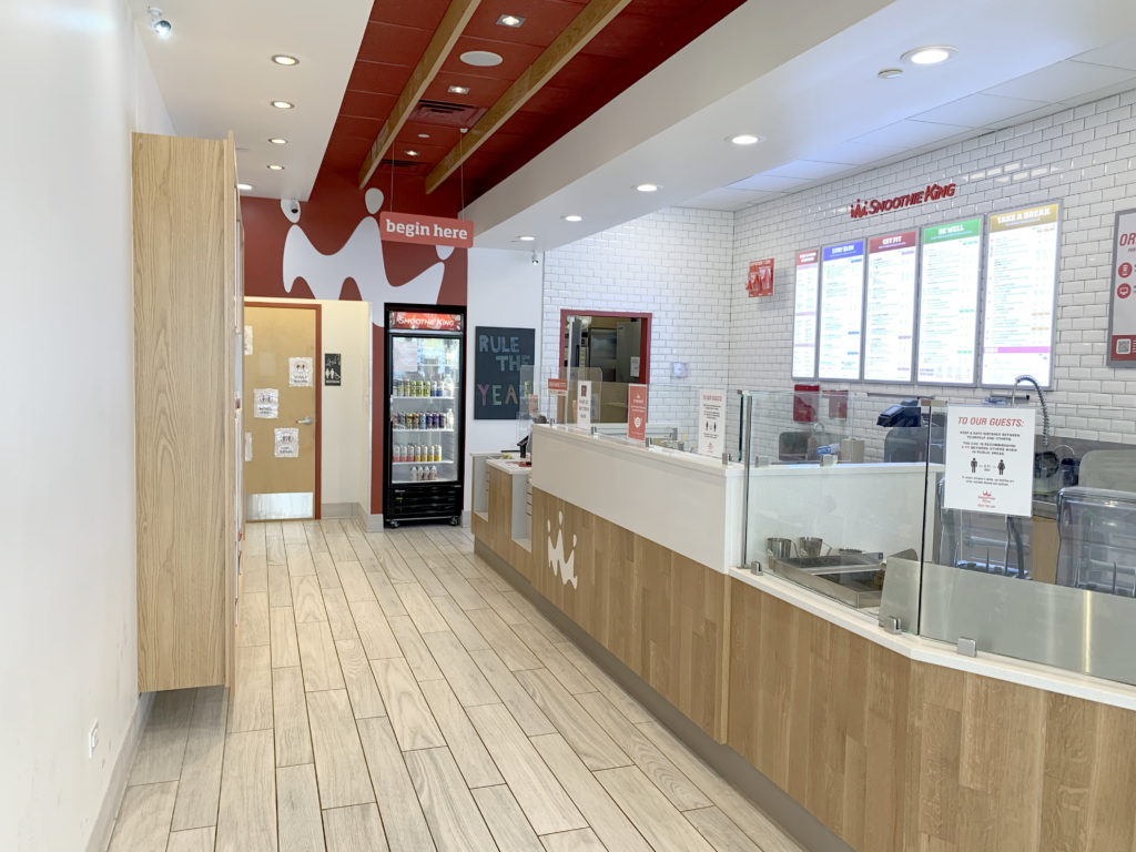 This is an image of our Smoothie King Design Build-Out.