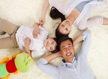 Happy family with clean, updated insulation.