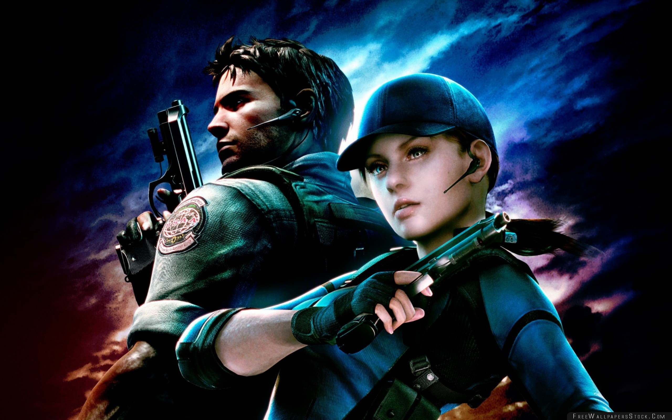 Download Free Wallpaper Resident Evil Jill Valentine Chris Redfield