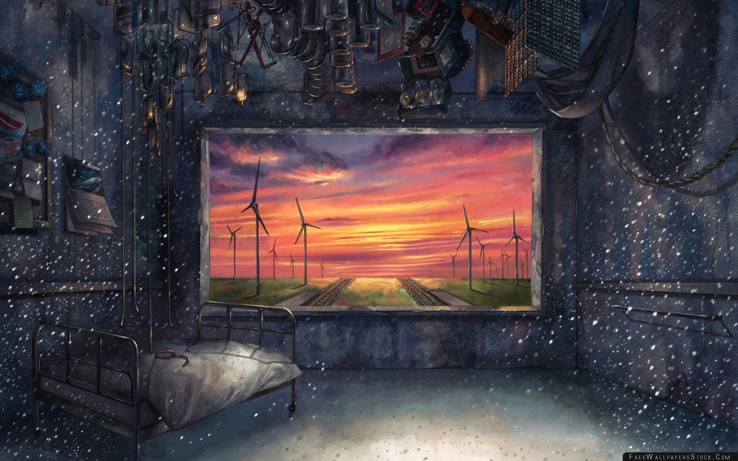Download Free Wallpaper Room Picture Windmills Railroad