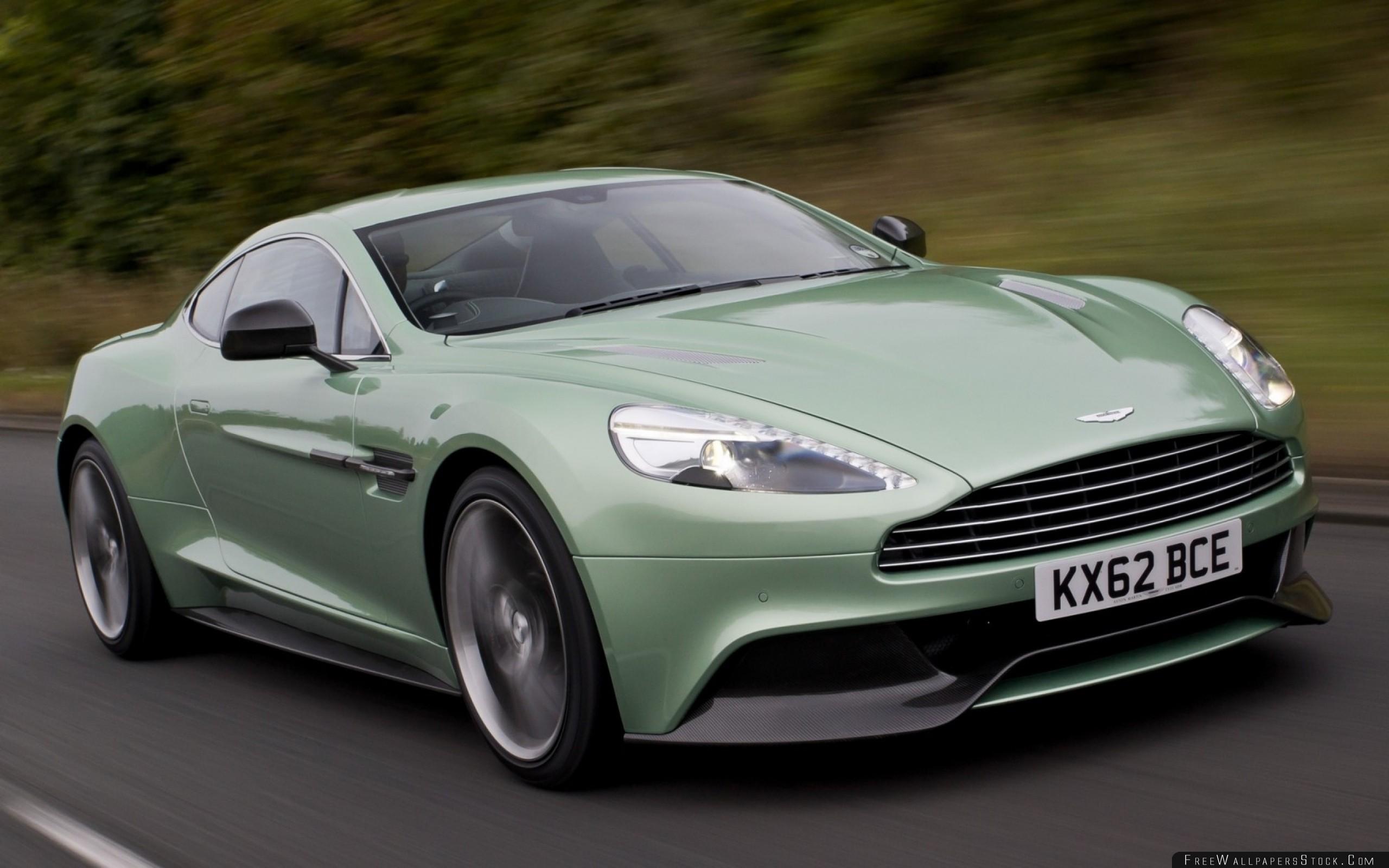 Download Free Wallpaper Supercar Green Aston Martin