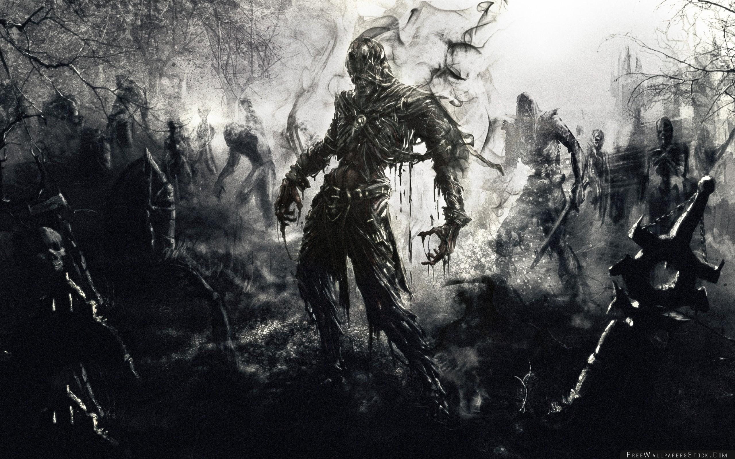 Download Free Wallpaper Zombies Fantasy Art