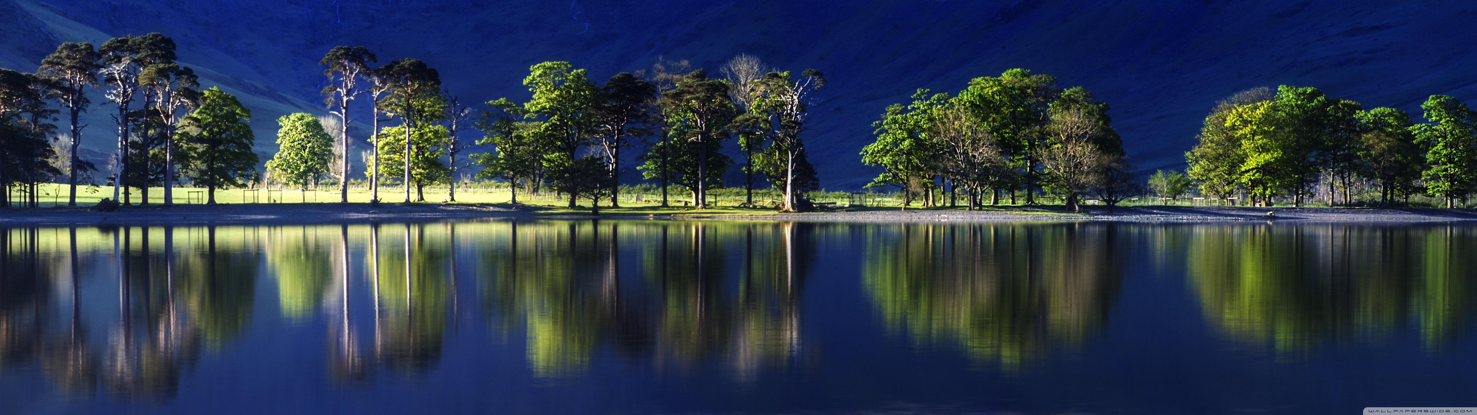 Download Free WallpaperBeatiful Reflection Blue Water Green Trees