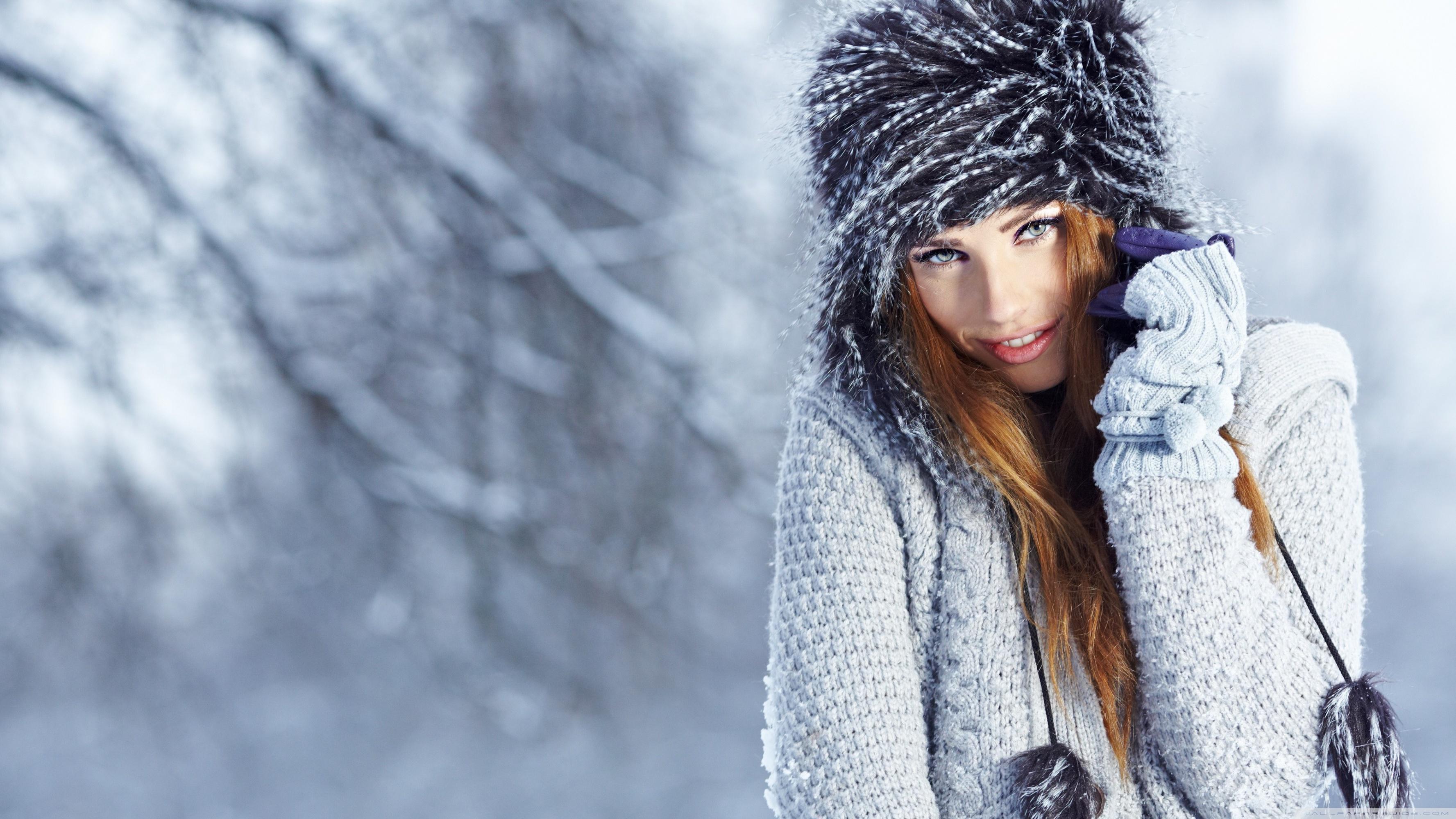 Download Free WallpaperWinter Girl Portrait
