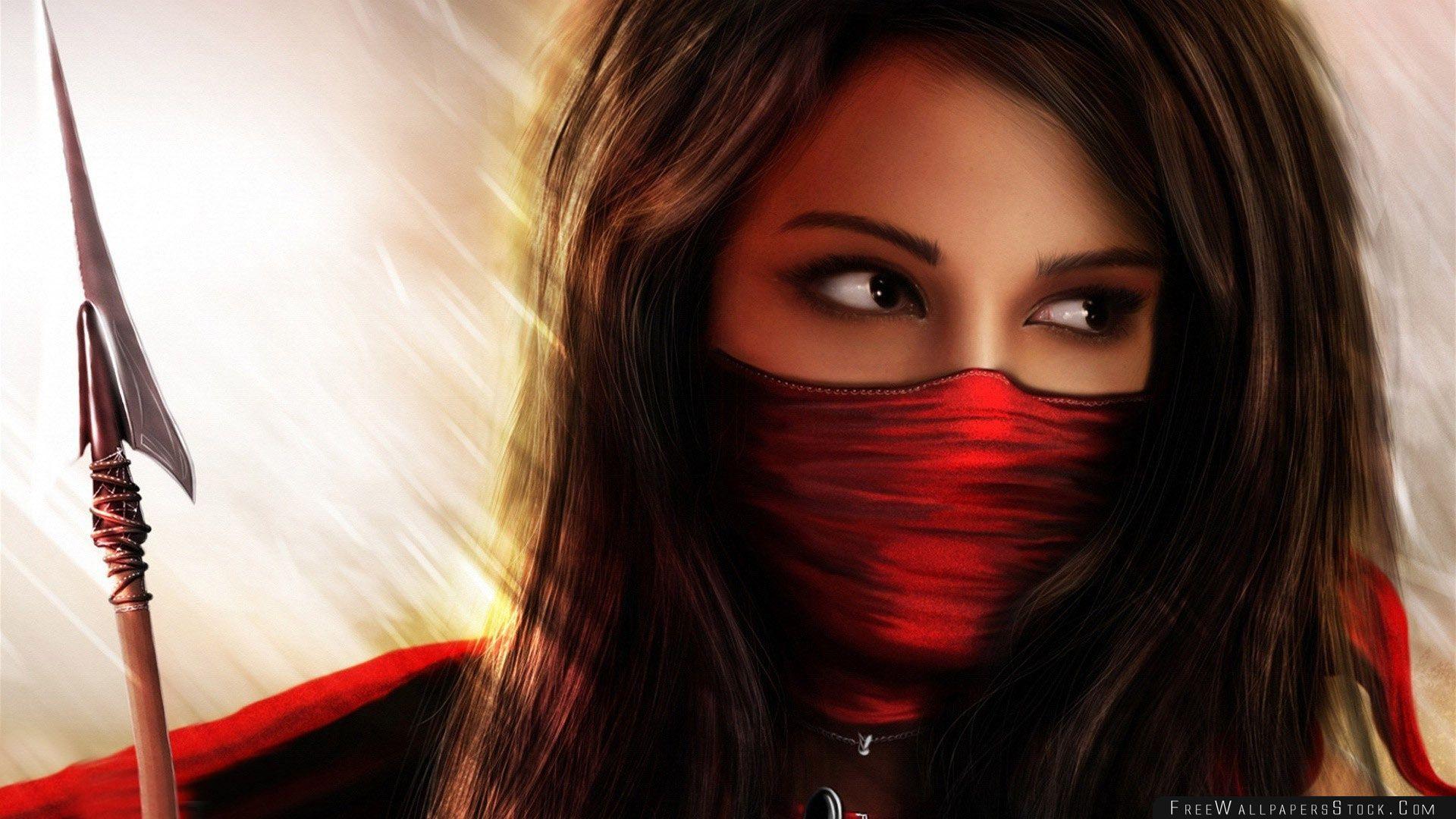 Download Free Wallpaper Ninja Girl Fantasy