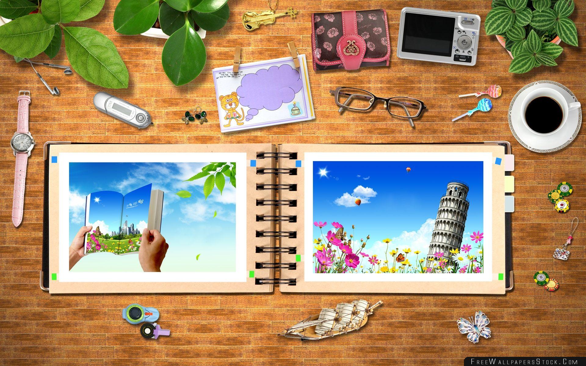 Download Free Wallpaper Photoshop Desk Girl