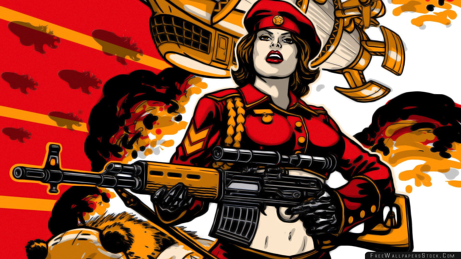 Download Free Wallpaper   Soviet Army Girl