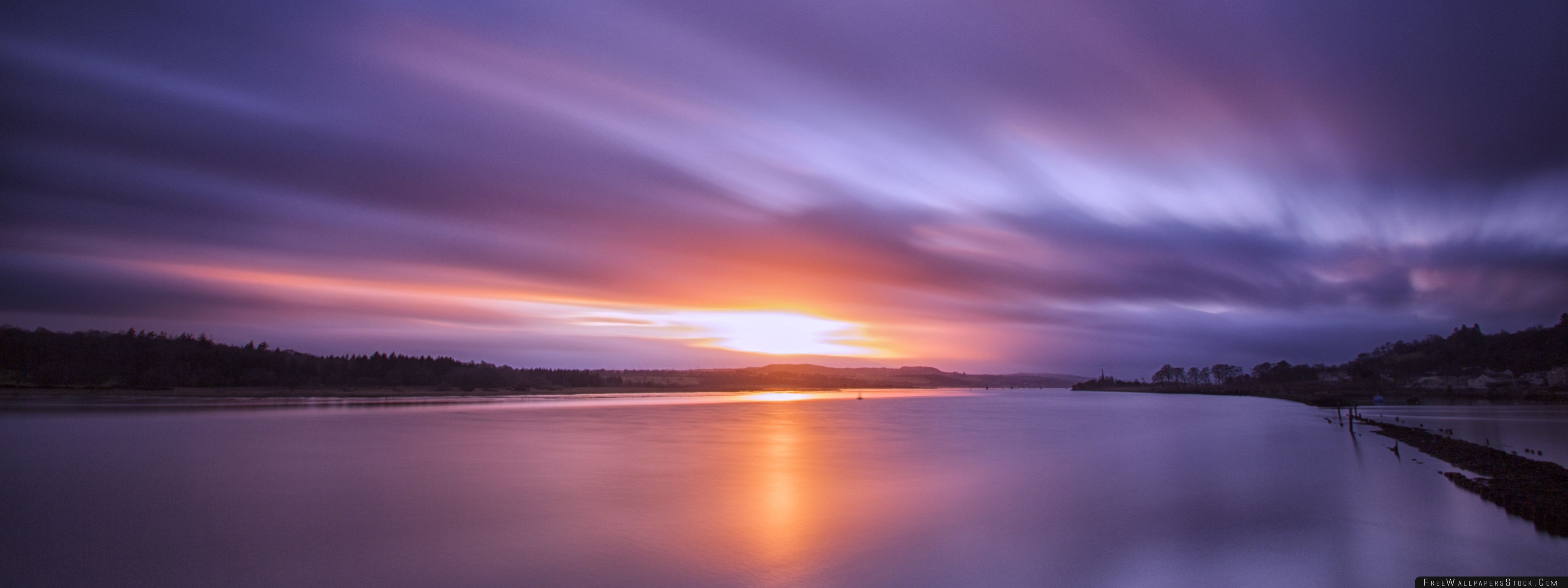 Download Free Wallpaper Sunset   The River Clyde