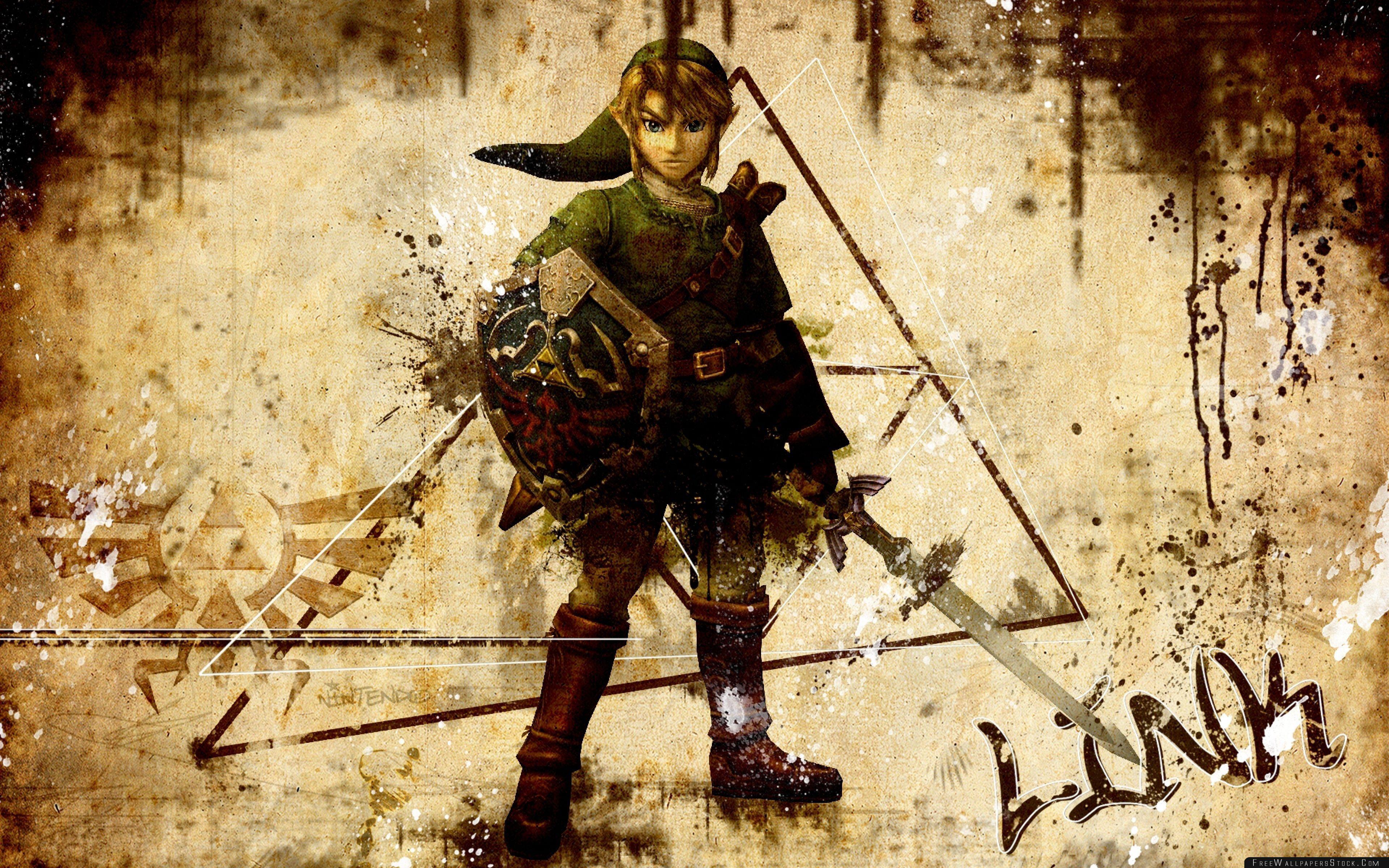 Download Free Wallpaper The Legend   Zelda Vintage Background
