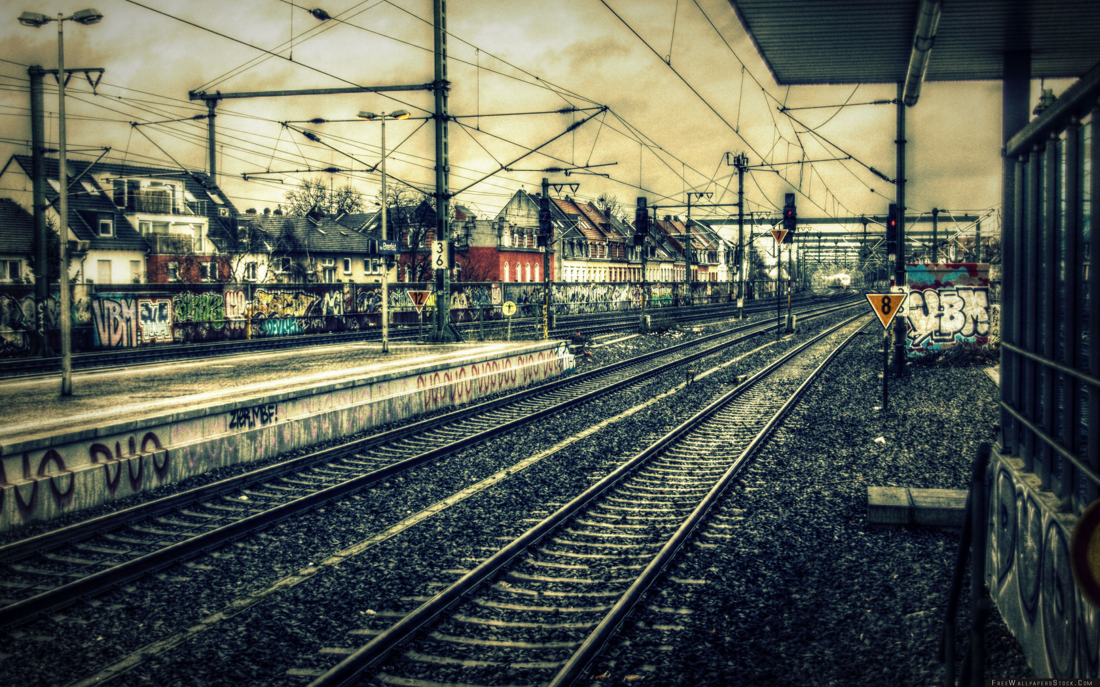 Download Free Wallpaper Train Station Hdr