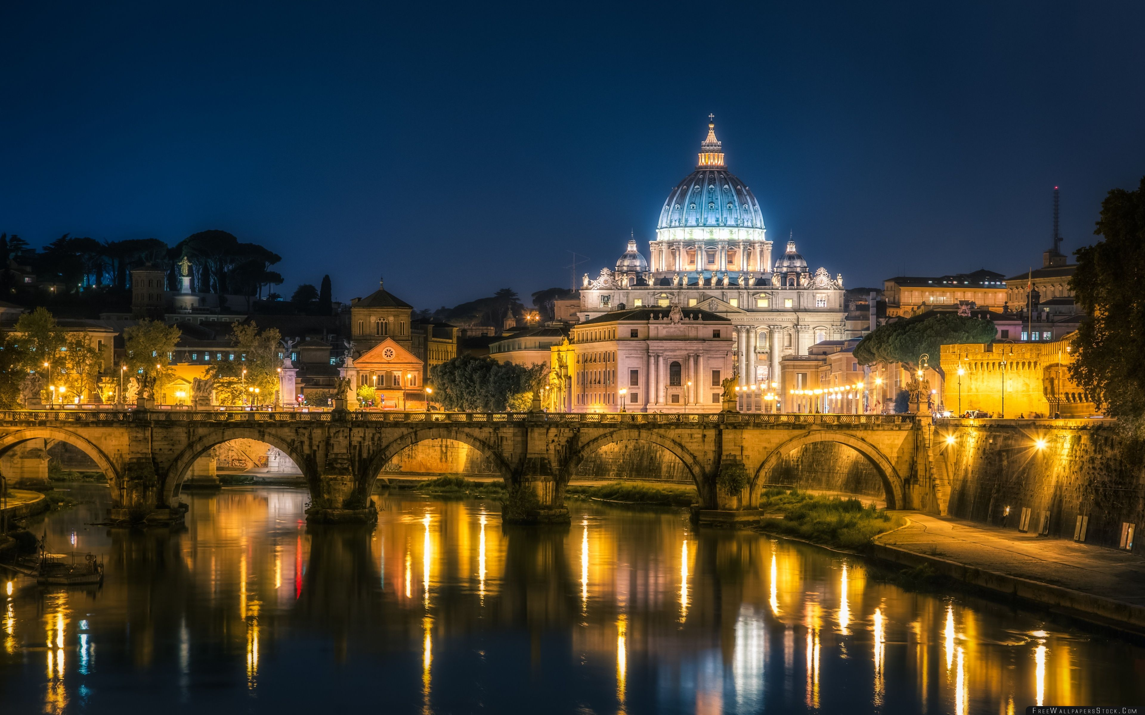 Download Free Wallpaper Vatican City   Night