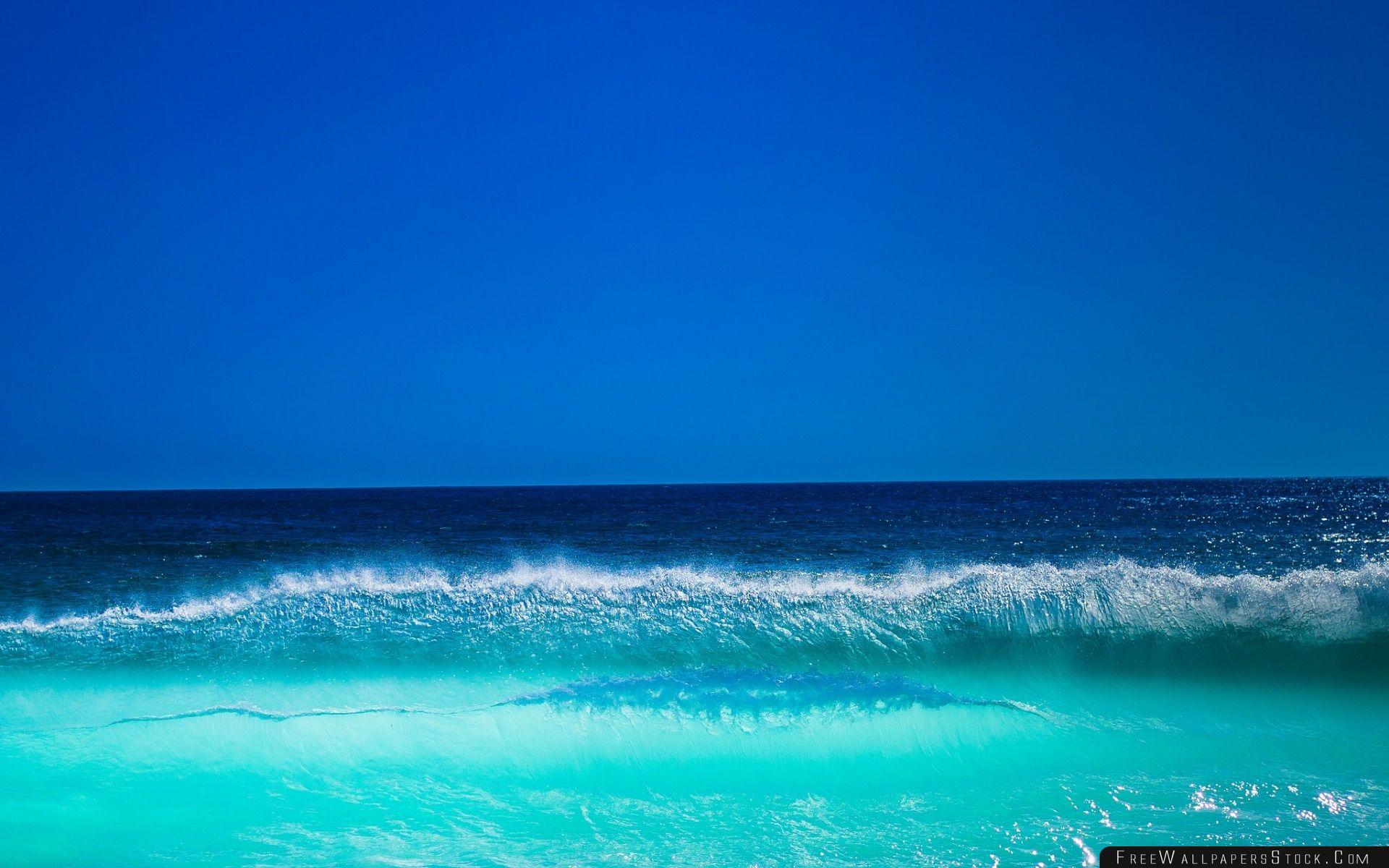Download Free Wallpaper Wave Sky Ocean