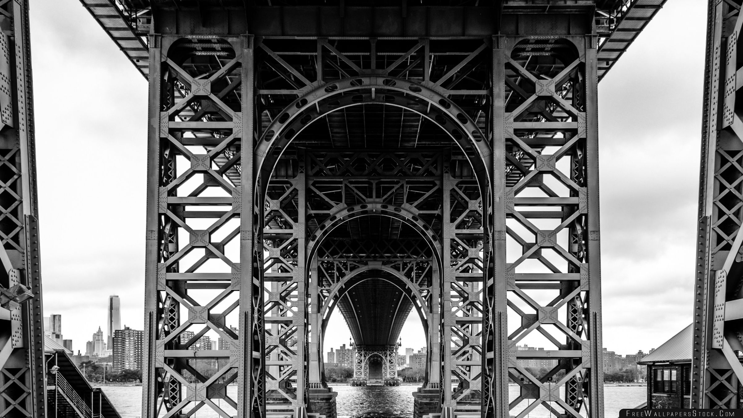 Download Free Wallpaper Williamsburg Bridge Black And White