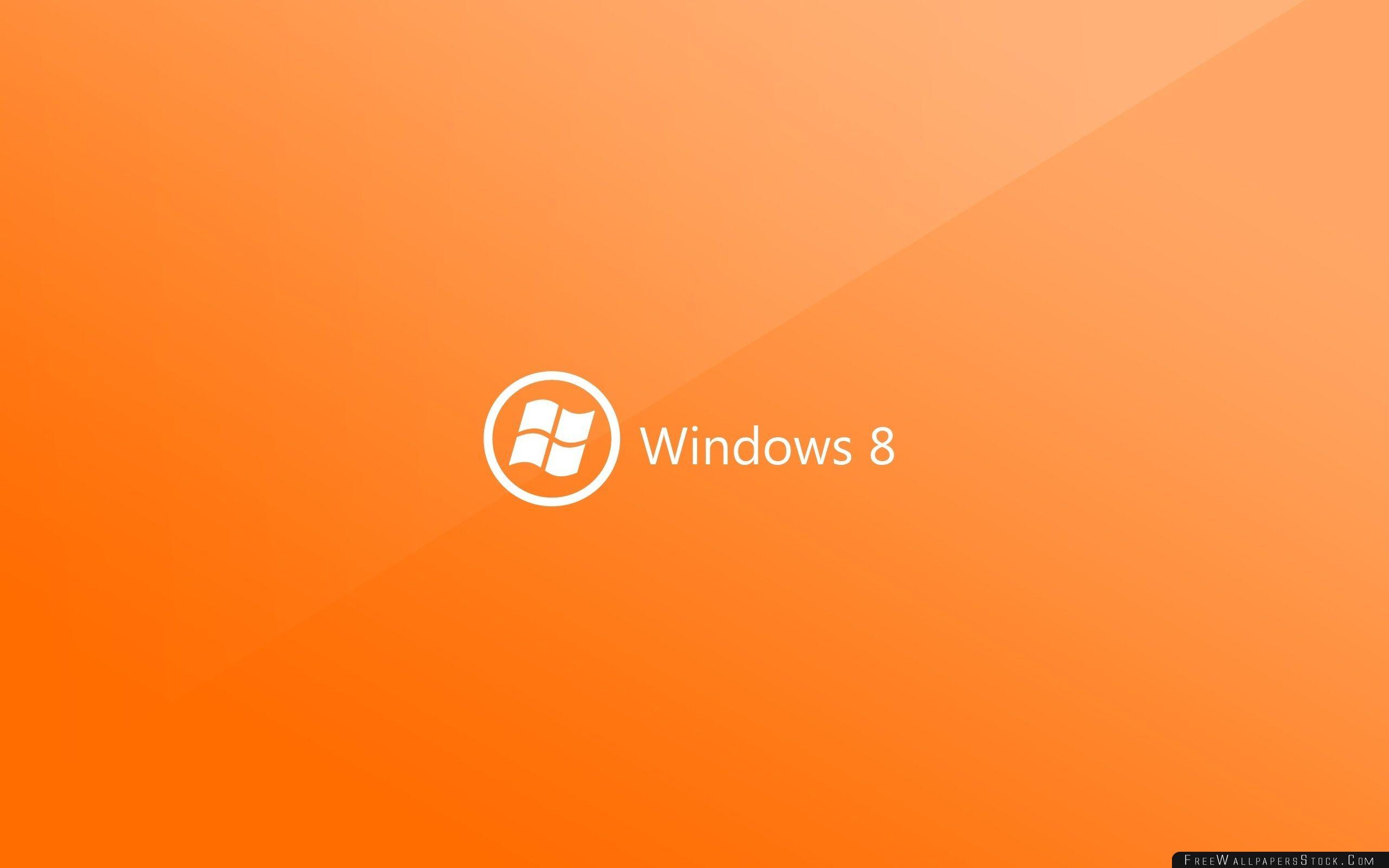Download Free Wallpaper Windows   Orange Background