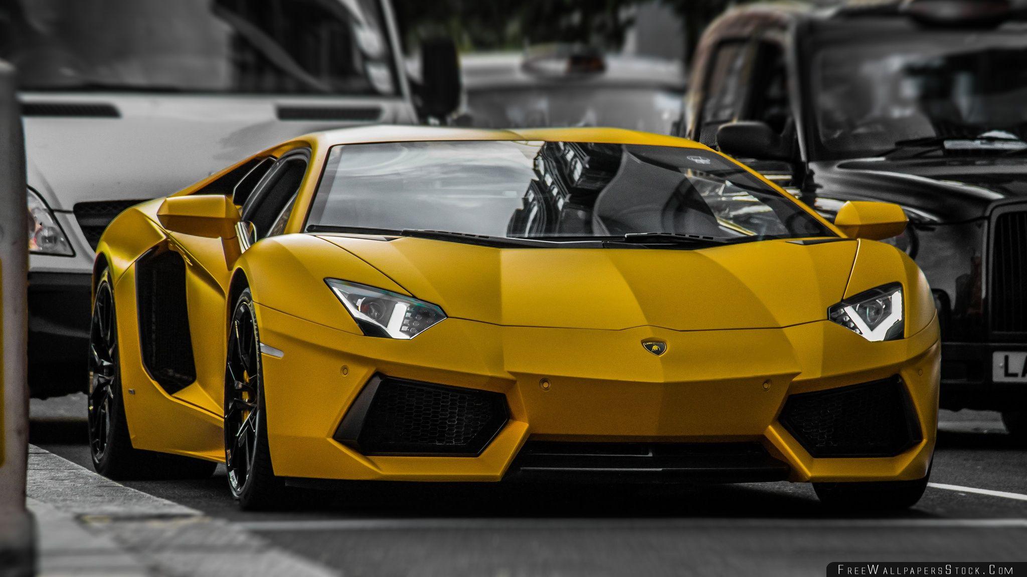 Download Free Wallpaper Yellow Lamborghini Hdr