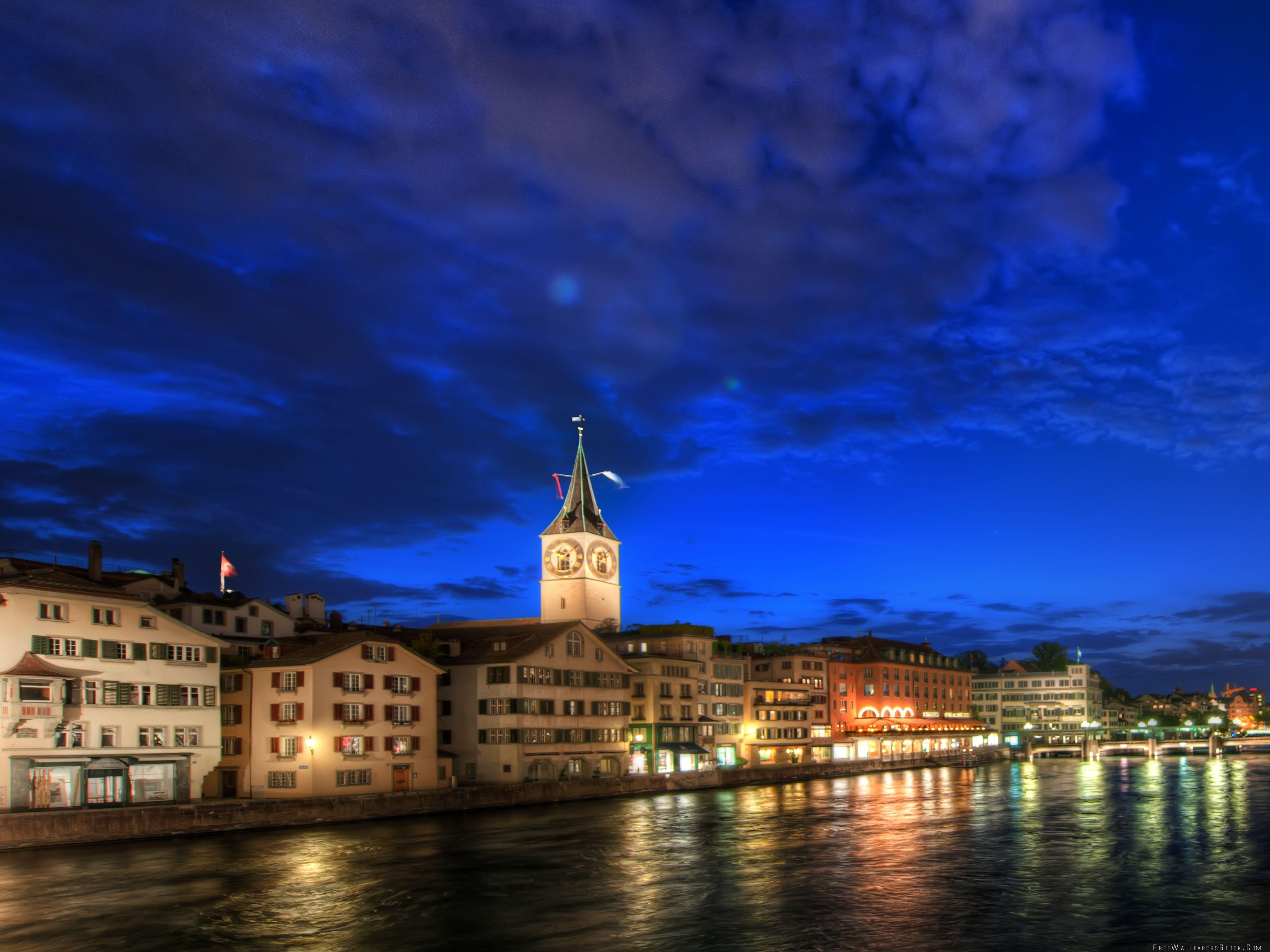 Download Free Wallpaper Zurich   Night Hdr