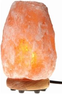 Natural Air Purifying Himalayan Salt Lamp with Neem Wood Base