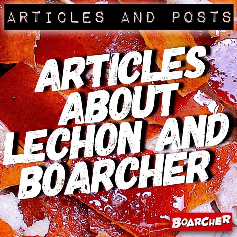 Articles About Lechon and Boarcher
