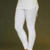 Organic Cotton Yoga Skirted Legging - Kundalini White by Blue Lotus Yogawear