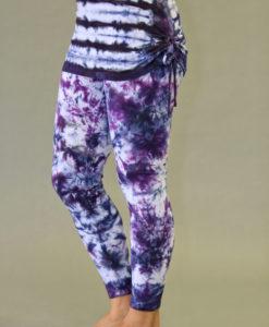 Organic Cotton Yoga Skirted Legging - Purple Tie-dye