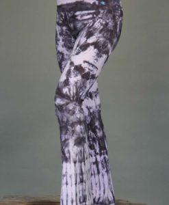 Organic Cotton Foldover Waist Yoga Pant - Rose Quartz Tie-dye by Blue Lotus Yogawear. 4-way Stretch, Pre-shrunk, Easy Care, Made in USA